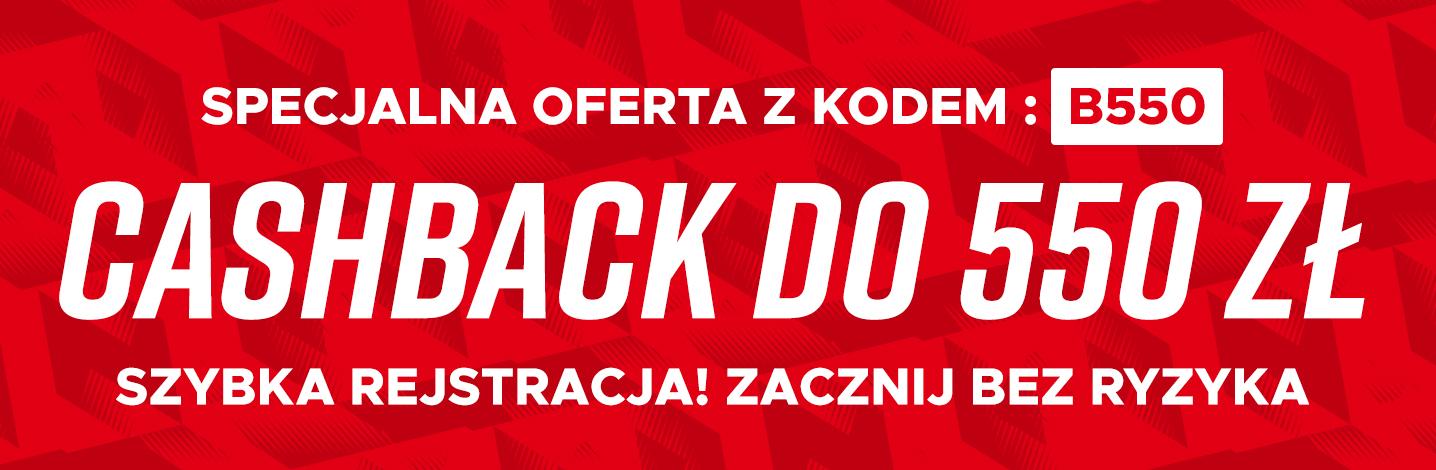 CASHBACK DO 550 ZL