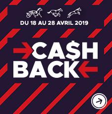 Cashback du 18 au 28 avril