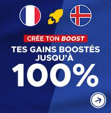 Crée ton boost sur France Islande