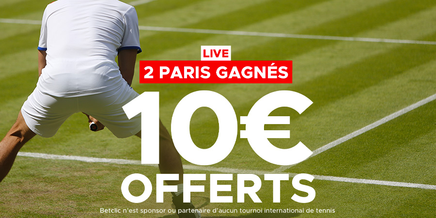mission live tennis 10 euros offerts