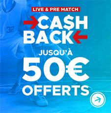 Cashback NBA : 10% de tes mises remboursées jusqu'à 50€