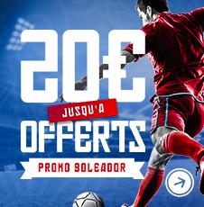 Goleador | Jusqu'à 20€ offerts