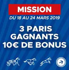 3 paris gagnant 10euros offerts