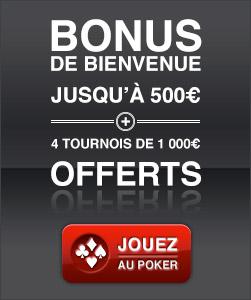 Poker bonus de bienvenue