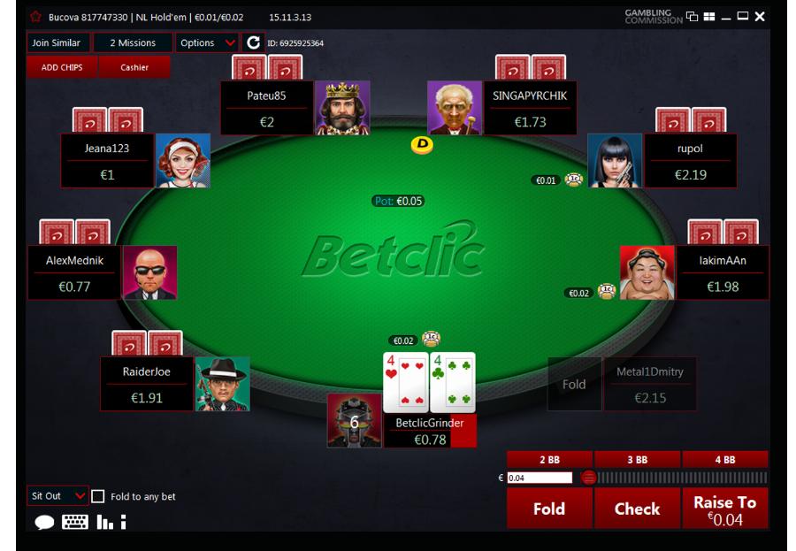 New Poker Software | Betclic Poker