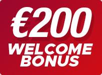 Casino Welcome Bonus up to 200 EUR