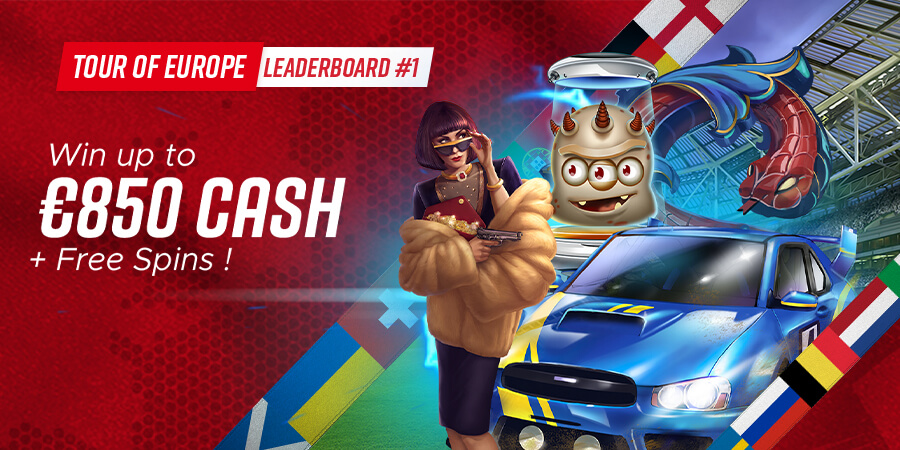 Tour of Europe Leaderboard: Win 8 Prizes up to €850 Cash!