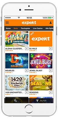 Expekt mobile app